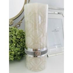 Gillia pillar candle silver...