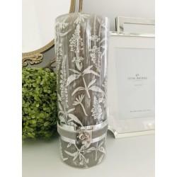 Lupia pillar candle silver...